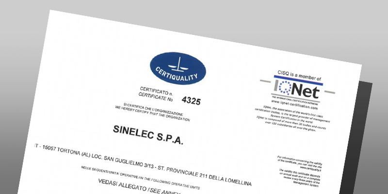 certificazioni qualità sinelec